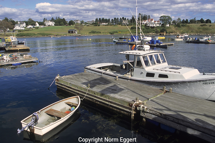 Boats docked on Bailey Island, Maine