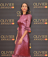 Zawe Ashton at the Olivier Awards 2019, Royal Albert Hall, Kensington Gore, London, England, UK, on Sunday 07th April 2019.<br /> CAP/CAN<br /> ©CAN/Capital Pictures