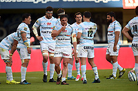 Team of Racing and Camile Chat look dejected during the Top 14 Match between Montpellier and Racing 92 on April 22, 2017 in Montpellier, France. (Photo by Alexandre Dimou/Icon Sport)