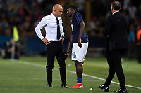 Moise Kean of Italy shows to Luigi Di Biagio coach of Italy his injury <br /> Bologna 16-06-2019 Stadio Renato Dall'Ara <br /> Football UEFA Under 21 Championship Italy 2019<br /> Group Stage - Final Tournament Group A<br /> Italy - Spain <br /> Photo Andrea Staccioli / Insidefoto