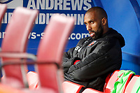 Nathan Pond of Fleetwood Town on the bench during the Sky Bet League 1 match between Charlton Athletic and Fleetwood Town at The Valley, London, England on 17 March 2018. Photo by Carlton Myrie.