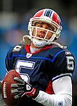 28 December 2008: Buffalo Bills' quarterback Trent Edwards warms up prior to facing the New England Patriots at Ralph Wilson Stadium in Orchard Park, NY. The Patriots kept their playoff hopes alive defeating the Bills 13-0 in their 16th win against Buffalo of their past 17 meetings. ***** Editorial Use Only ******..Mandatory Photo Credit: Ed Wolfstein Photo