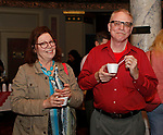 Waterbury, CT 042319MK13 (from left)  Robin Griskus and John E. Houston gathered for the during the third annual UNICO meatball contest at the Palace Theatre Tuesday evening.  Francine Nido, national secretary, said this was the third year for the event with eleven local restaurants participating and two-hundred twenty-five pre-paid ticket holders along with many hungry people paying at the door.  Nido stated that the funds raised during this contest will benefit local scholarships and charities.   Michael Kabelka / Republican-American