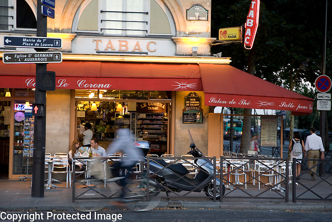 Tabac and Cafe near Louvre Art Museum, Paris, France