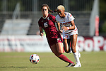 15 October 2016: NC State's Tziarra King (2) and Florida State's Olivia Bergau (15). The North Carolina State University Wolfpack hosted the Florida State University Seminoles at Dail Soccer Field in Raleigh, North Carolina in a 2016 NCAA Division I Women's Soccer match. FSU won the game 1-0.