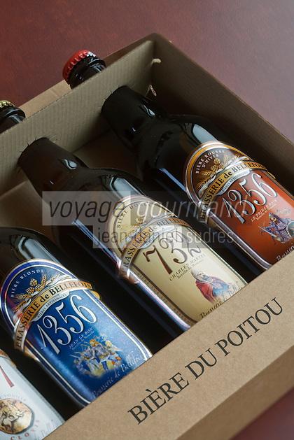 Europe/France/Poitou-Charentes/86/Vienne/Neuville de Poitou: Bouteilles  de bière de la  Brasserie de Bellefois