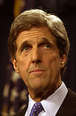 United States Senator John F. Kerry (Democrat of Massachusetts), who recently announced a run for the 2004 Democratic presidential nomination, announces that he suffers from Prostate Cancer in the U.S. Capitol in Washington, D.C. on February 11, 2003.  He will undergo surgery at Johns Hopkins Hospital on February 12, 2003 and expects surgery to be successful and to cure his cancer..Credit: Ron Sachs / CNP