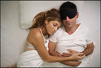BNPS.co.uk (01202 558833)<br /> Pic: SilentPartner/BNPS<br /> <br /> Inventors have created a first of its kind sleeping mask which uses soundwaves to silence your partner's snoring.<br /> <br /> Silent Partner looks like any regular sleeping mask but uses 'active noise cancellation technology'.<br /> <br /> It senses the snoring sound and emits a counter noise to cancel the undesirable one. <br /> <br /> This means the person who puts the mask on will carry on snoring but their partner will not hear it, so both parties will have their sleep uninterrupted.<br /> <br /> The Silent Partner, which will retail at $81 (&pound;66), relies on the physics of sound waves. Every sound is characterised by pressure waves, which have specific amplitudes and frequencies. <br /> <br /> It emits a sound wave with the same amplitude but at an inverted phase to the original sound. <br /> <br /> As a result, the wave and counter-wave combine to form a new sound wave and the two cancel each other out.