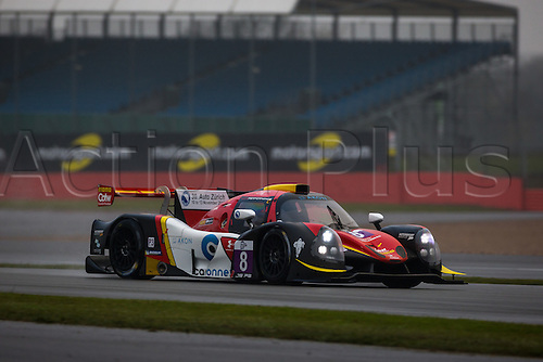 15.04.2016 Silverstone Circuit Northamptonshire England. Free Practice for Round 1 of the European Le Mans Series 2016 (ELMS). #8 Marcello Marateotto (CHE) / Giorgio Maggi (CHE) / Bert Longin (BEL) driving the RACE PERFORMANCE Ligier JS P3 - Nissan LMP3 car.