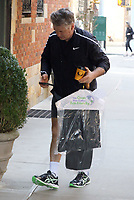 www.acepixs.com<br /> <br /> April 3 2017, New York City<br /> <br /> Actor Alec Baldwin brings home coffee and dry cleaning on his 59th birthday on April 3 2017 in New York City<br /> <br /> By Line: Zelig Shaul/ACE Pictures<br /> <br /> <br /> ACE Pictures Inc<br /> Tel: 6467670430<br /> Email: info@acepixs.com<br /> www.acepixs.com