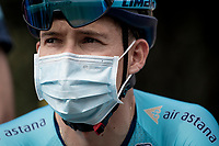 Miguel 'Superman' Angel Lopez (COL/Astana) at the race start in Clermont-Ferrand<br /> <br /> Stage 1: Clermont-Ferrand to Saint-Christo-en-Jarez (218km)<br /> 72st Critérium du Dauphiné 2020 (2.UWT)<br /> <br /> ©kramon
