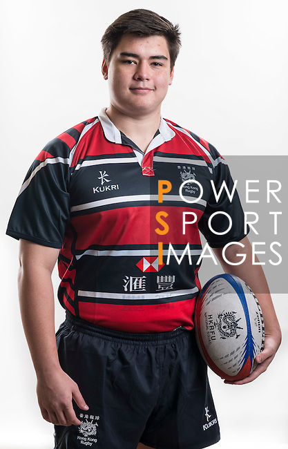 Hong Kong Junior Squad team member Ryan Aylesworth poses during the Official Photo Session Day at King's Park Sports Ground ahead the Junior World Rugby Tournament on 25 March 2014. Photo by Andy Jones / Power Sport Images