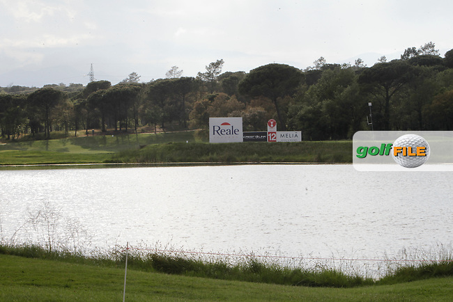 View of the 12th tee box from the 13th green during Practice Day 1of The Open De Espana at The PGA Catalunya Resort on Tuesday 13th May 2014.<br /> Picture:  Thos Caffrey / www.golffile.ie