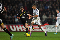 Pictured: Saturday 31 December 2011<br /> Re: Premier League football Swansea City FC v Tottenham Hotspur at the Liberty Stadium, south Wales.