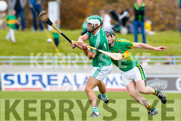 Padraig O'Grady Ballyduff in action against  Lixnaw in the Senior County Hurling Final in Austin Stack Park on Sunday
