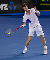 Andy Murray (GBR) (5) against Roger Federer (SUI) (1) in the Final of the Mens Singles. Federer beat Murray 6-3 6-4 7-6..International Tennis - Australian Open Tennis - Sunday 31 Jan 2010 - Melbourne Park - Melbourne - Australia ..© Frey - AMN Images, 1st Floor, Barry House, 20-22 Worple Road, London, SW19 4DH.Tel - +44 20 8947 0100.mfrey@advantagemedianet.com