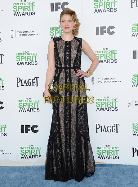 SANTA MONICA, CA, MARCH 01: Hande Kodja at The 2014 Film Independent Spirit Awards held at Santa Monica Beach in Santa Monica, California, USA on March 1st, 2014.                                                                              <br /> CAP/DVS<br /> &copy;Debbie VanStory/Capital Pictures