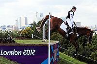 LONDRES, INGLATERRA, 30 JULHO 2012 - OLIMPIADAS 2012 - CROSS COUNTRY -  O atleta Sandra Auffarth da Alemanha durante a prova do Cross Country nas  Olimpiadas de Londres, nesta segunda-feira, 30. (FOTO: PIXATHLON / BRAZIL PHOTO PRESS).