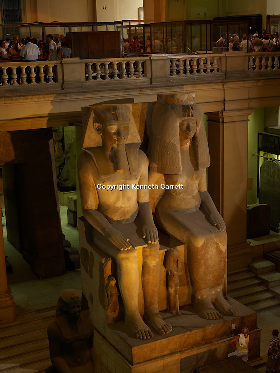 mm7864; 18th Dynasty; New Kingdom; Egypt; The Egyptian Museum; Cairo; Queen Tiye, Amenhotep III, Limestone, Colossal Statue