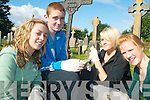 CLEAN UP: Mercy Mounthawk students who helped in the clean up of St John's Graveyard in Tralee on Thursday last, l-r: Eve Heim, Ger McCarthy, Caragh Purcell and Sarah Walsh.   Copyright Kerry's Eye 2008