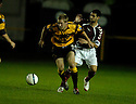 20/09/2006        Copyright Pic: James Stewart.File Name : sct_jspa01_alloa_v_hearts.graeme brown and christos karipidis......Payments to :.James Stewart Photo Agency 19 Carronlea Drive, Falkirk. FK2 8DN      Vat Reg No. 607 6932 25.Office     : +44 (0)1324 570906     .Mobile   : +44 (0)7721 416997.Fax         : +44 (0)1324 570906.E-mail  :  jim@jspa.co.uk.If you require further information then contact Jim Stewart on any of the numbers above.........