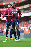 Michail Antonio warms up during Arsenal vs West Ham United, Premier League Football at the Emirates Stadium on 7th March 2020