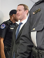 Mark Zuckerberg, Co-Founder and Chief Executive Officer of Facebook, makes the rounds on Capitol Hill prior to giving testimony before Congress on Tuesday and Wednesday on Monday, April 9, 2018<br /> CAP/MPI/RS<br /> &copy;RS/MPI/Capital Pictures