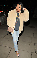 Vanessa White at the Mark Hill haircare brand launch party, MV Hispaniola, Victoria Embankment, London, England, UK, on Wednesday 07 March 2018.<br /> CAP/CAN<br /> &copy;CAN/Capital Pictures