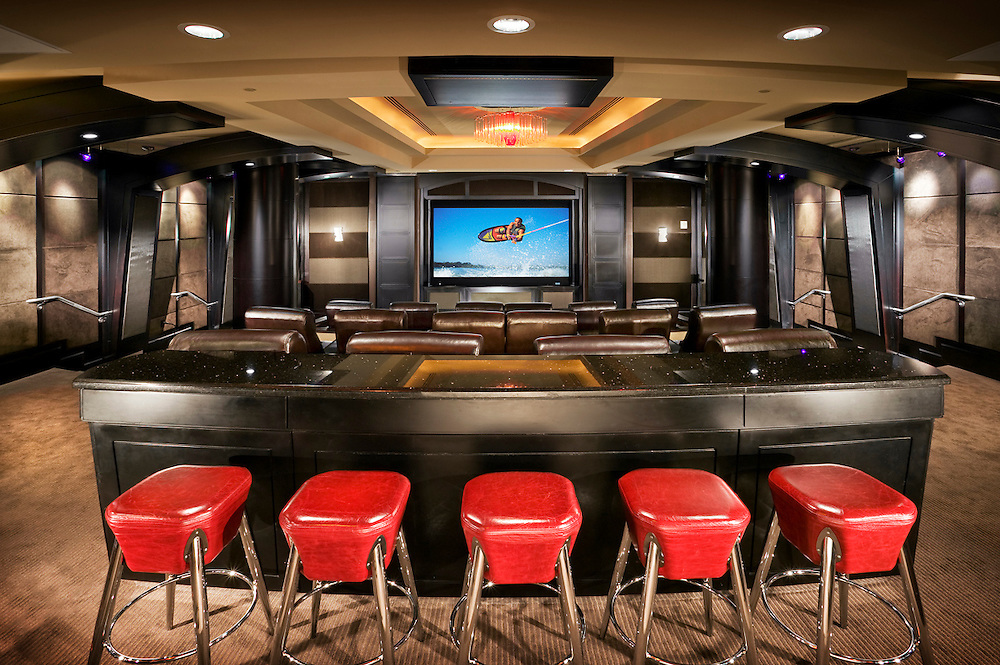 Theater with Bar Stool Seating