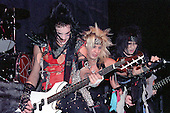 NEW YORK CITY, NY JANUARY 30: Vince Neil, Nikki Sixx and Mick Mars of Motley Crue perform at Madison Square Garden on on January 30, 1984 in New York City, New York.  photo by Larry Marano (C) 1984.