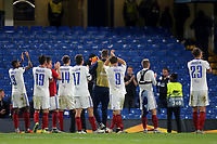Mol Vidi players applaud their fans at the end of the match during Chelsea vs MOL Vidi, UEFA Europa League Football at Stamford Bridge on 4th October 2018