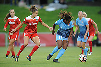 Boyds, MD - Saturday May 6, 2017: Havana Solaun, Kayla Mills during a regular season National Women's Soccer League (NWSL) match between the Washington Spirit and Sky Blue FC at Maureen Hendricks Field, Maryland SoccerPlex.