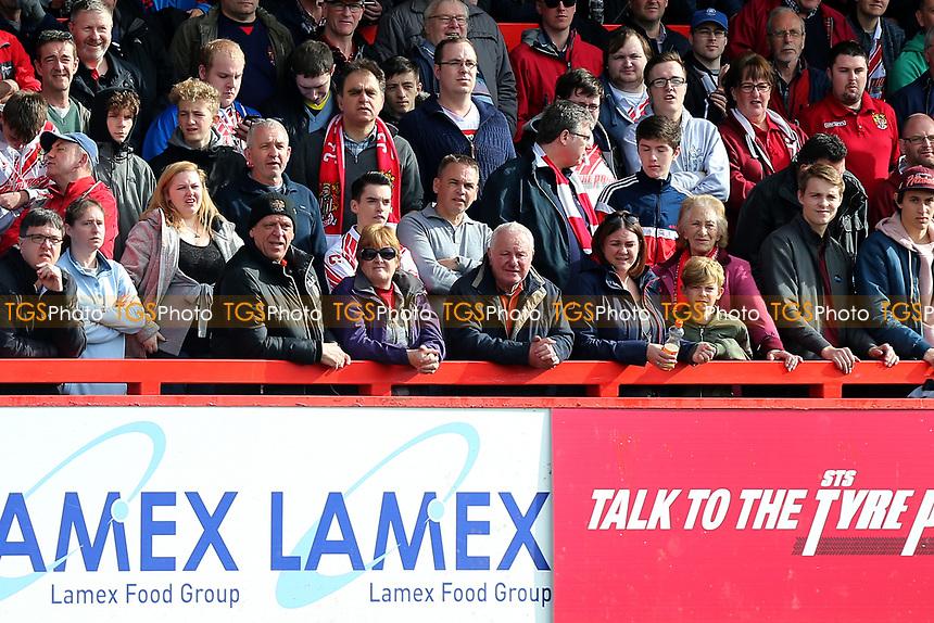 Stevenage fans during Stevenage vs Barnet, Sky Bet EFL League 2 Football at the Lamex Stadium on 1st April 2017