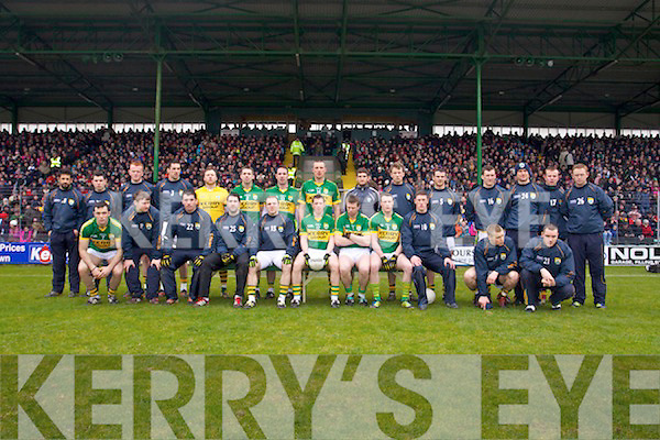 The Kerry team who played Cork in the National Football League at Austin Stack park, Tralee on Sunday.