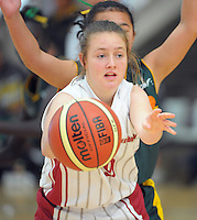 North Canterbury's Charlotte Whittaker in action during day three of the National Under-15 Basketball Championship at the ASB Sports Centre, Kilbirnie, Wellington, New Zealand on Friday, 26 July 2013. Photo: Dave Lintott / lintottphoto.co.nz