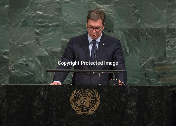 72 General Debate – 20 September <br /> <br /> His Excellency Aleksandar Vučić, President of the Republic of Serbia