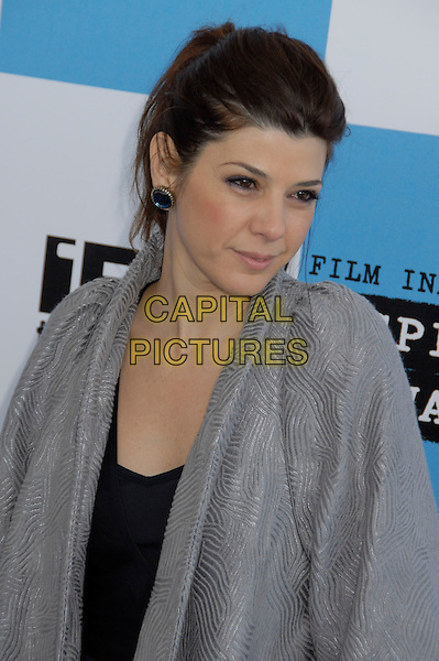 MARISA TOMEI .The 2007 Independent Spirit Awards held at the Santa Monica Pier, Santa Monica, California, USA..February 24th, 2007.half length grey gray top .CAP/ADM/GB.©Gary Boas/AdMedia/Capital Pictures