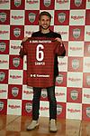 Former Barcelona player Sergi Samper during a press conference to join Japan's Vissel Kobe in Tokyo, Japan on March 7, 2019. (Photo by Pasya/AFLO)