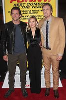 LOS ANGELES, CA - AUGUST 14: Dax Shepard, Kristen Bell and Bradley Cooper arrives at the 'Hit & Run' Los Angeles Premiere on August 14, 2012 in Los Angeles, California MPI21/Mediapunchinc /NortePhoto.com<br />