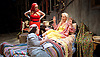 Grey Gardens<br /> Book by Doug Wright<br /> Music by Scott Frankel<br /> Lyrics by Michael Korie<br /> produced by Danielle Tarento<br /> at The Southwark Playhouse, London, Great Britain <br /> press photocall<br /> 7th January 2016 <br /> <br /> directed by Thom Southerland<br /> <br /> <br /> Sheila Hancock as Edith Bouvier Beale<br /> <br /> Jenna Russell as 'Little' Edie Beale<br /> <br /> Aaron Sidwell as Jerry <br /> <br /> <br /> <br /> Photograph by Elliott Franks <br /> Image licensed to Elliott Franks Photography Services