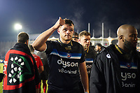 Zach Mercer of Bath Rugby acknowledges the crowd after the match. European Rugby Champions Cup match, between Bath Rugby and RC Toulon on December 16, 2017 at the Recreation Ground in Bath, England. Photo by: Patrick Khachfe / Onside Images