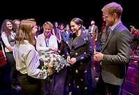 05 May 2019 - Prince Harry Duke of Sussex and Meghan Markle Duchess of Sussex meeting Crisis Volunteers working with Shout, a free text messaging service which aims to provide 24/7 support for anyone experiencing mental health crisis. Photo Credit: ALPR/AdMedia