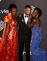 LOS ANGELES, CALIFORNIA - JANUARY 06: Danai Gurira, Michael B. Jordan and Lupita Nyong'o attend the Warner InStyle Golden Globes After Party at the Beverly Hilton Hotel on January 06, 2019 in Beverly Hills, California. <br /> CAP/MPI/IS<br /> &copy;IS/MPI/Capital Pictures