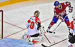 18 December 2008: Montreal Canadiens' right wing forward Tom Kostopoulos is unable to score against the Philadelphia Flyers during the third period at the Bell Centre in Montreal, Quebec, Canada. The Canadiens, trying to avoid a four-game slide, defeated the Flyers 5-2, thus ending Philadelphia's 5-game winning streak. ***** Editorial Sales Only ***** Mandatory Photo Credit: Ed Wolfstein Photo