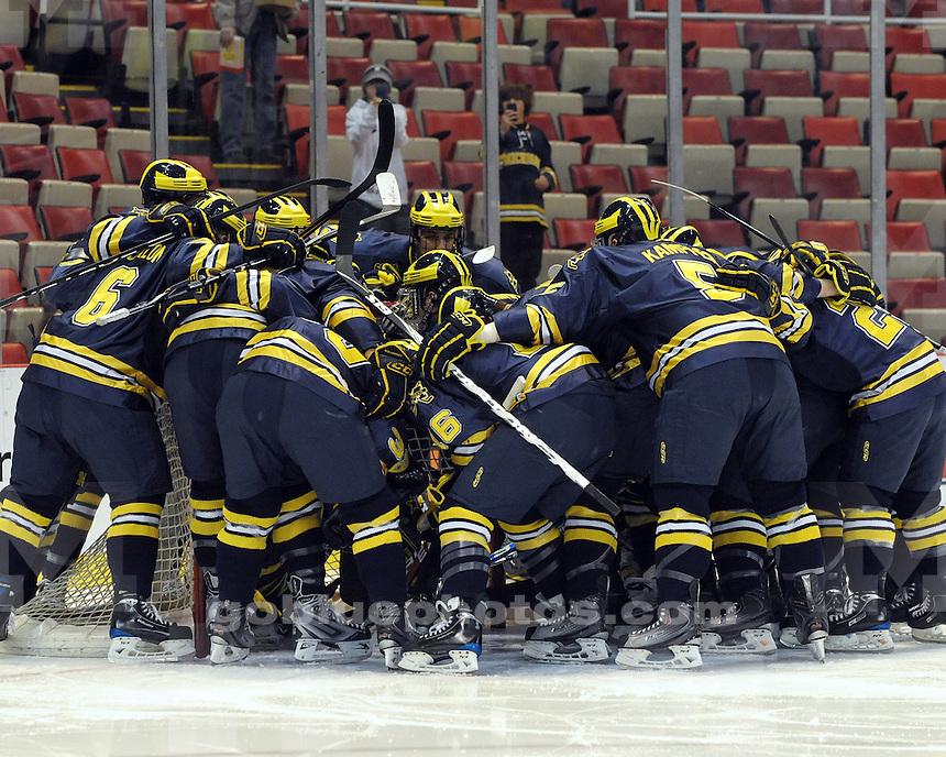 University of Michigan Ice Hockey vs Michigan Tech at Joe Louis Arena in Detroit MI for the Great Lakes Invitational.