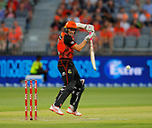 3rd February 2019, Optus Stadium, Perth, Australia; Australian Big Bash Cricket League, Perth Scorchers versus Melbourne Stars; Michael Klinger of the Perth Scorchers plays through the gully region during his innings