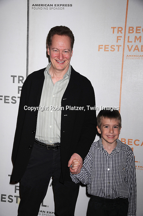 "Stephen Schiff and son Oliver..arriving at The Tribeca Film Festival's  screening of ""Speed Racer'  on May 3, 2008 at Borough of Manhattan Community College/TPAC in New York City. ....Robin Platzer, Twin Images"