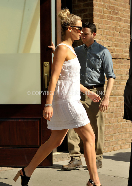 WWW.ACEPIXS.COM<br /> <br /> May 4 2015, New York City<br /> <br /> Actress Jennifer Lawrence leaving a downtown hotel on May 4 2015 in New York City.<br /> <br /> <br /> Please byline: Curtis Means/ACE Pictures<br /> <br /> ACE Pictures, Inc.<br /> www.acepixs.com, Email: info@acepixs.com<br /> Tel: 646 769 0430