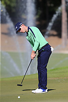 Brandon Stone (RSA) putts on the 17th green during Friday's Round 2 of the 2018 Turkish Airlines Open hosted by Regnum Carya Golf &amp; Spa Resort, Antalya, Turkey. 2nd November 2018.<br /> Picture: Eoin Clarke | Golffile<br /> <br /> <br /> All photos usage must carry mandatory copyright credit (&copy; Golffile | Eoin Clarke)