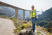 Puente #4 (Bridge #4) Engineer Luis Rojas Nieto supervises 2 bridge building projects for a new highway.  construction and engineering projects in the Estado de Mexico, Mexico